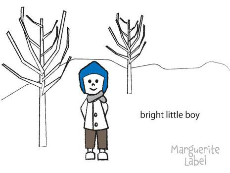 Bright little boy / illustration