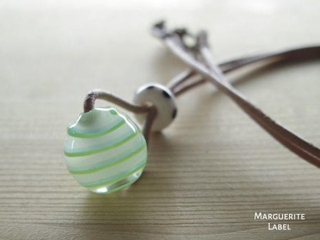 White&Green /Glass Beads