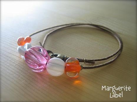 Pink & Orange / Choker