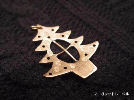 真鍮ツリーに十字をデザイン