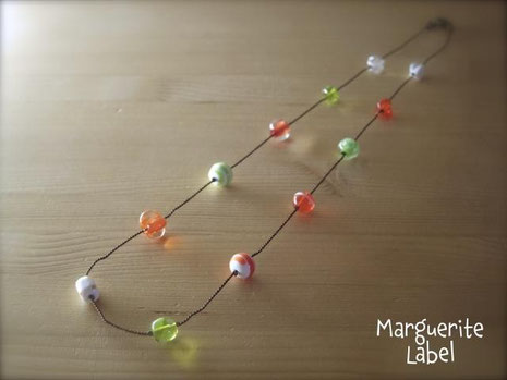 Citrus / Glass Beads Necklace