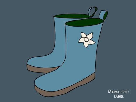 京都手づくり市雨の時は長靴があると...