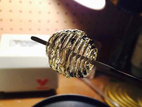 京都 手作り市にて出店販売 手づくりガラス ガラスの風船作り ネックレス用ビーズ
