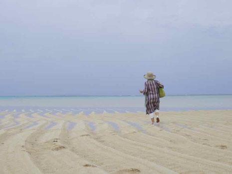 与論島旅行ブログ 百合ケ浜のサンドバー