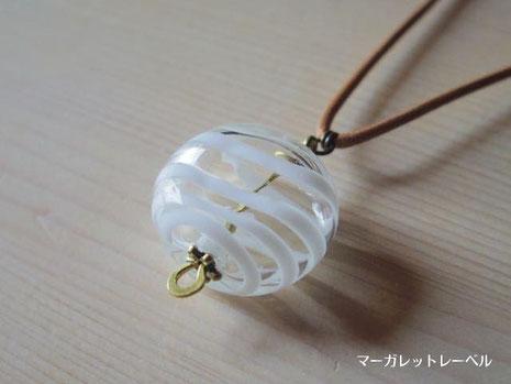 ガラスの風船 白×クリア