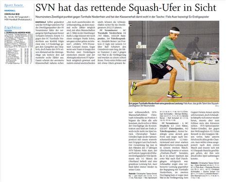 Nachbericht Holsteinischer Courier 8. Spieltag, 14.02.2012