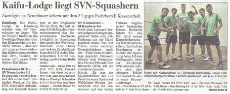 Nachbericht Kieler Nachrichten 9. Spieltag, 05.03.2012