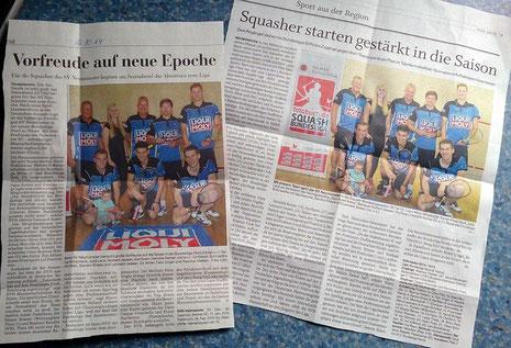 Der Holsteinische Courier und die Kieler Nachrichten berichteten zum Saisonstart.