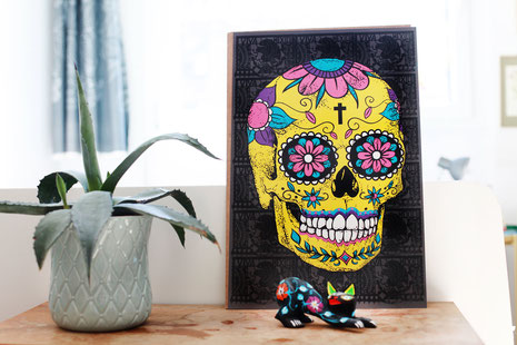 mexican-sugarskull-poster-calavera-print-mexicanart