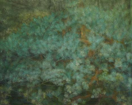Ostseekiefer, Acrylfarbe auf Nessel, 100 x 80 cm
