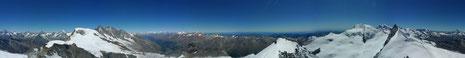 panoramablick vom Allalin
