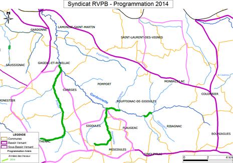 Carte des travaux 2014 - Cliquez pour agrandir