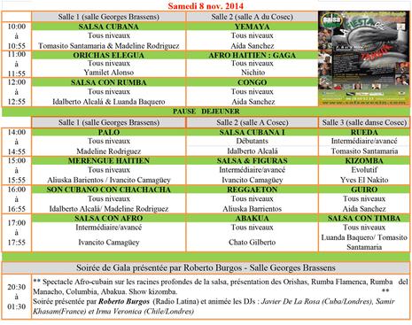 Salsa vexin 2014 workshops