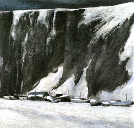 漁港厳冬(1977年)【株式会社AOKIホールディングス所蔵】