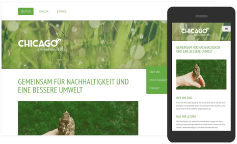 Mobile Ansicht Responsive Design bei Jimdo