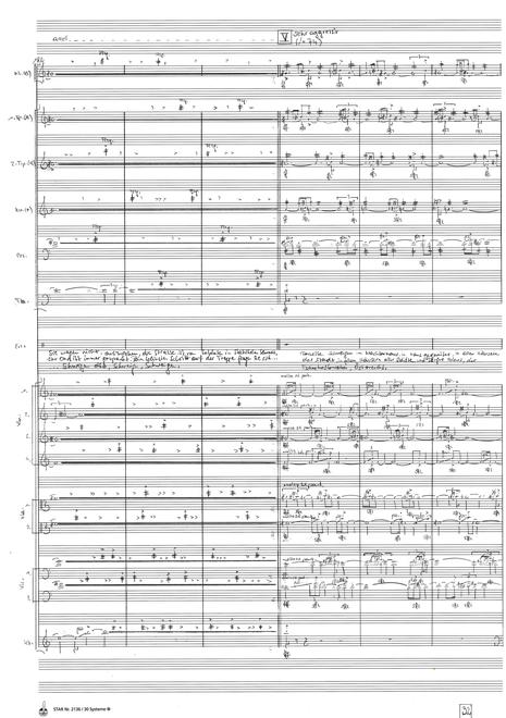 Das große Schweigen – Melodram für Kammerorchester und Erzähler