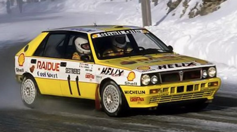 This car became famous thanks to the Italian national TV channel Rai Due which broadcast the race live of Rallie de Montecarlo 1989