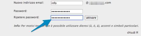 Password email