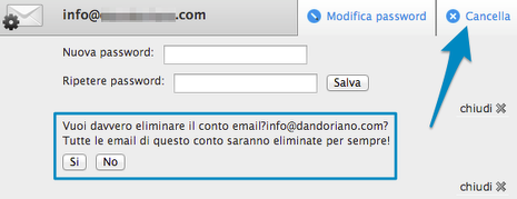 Cancellare email