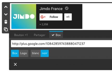 bouton box google+