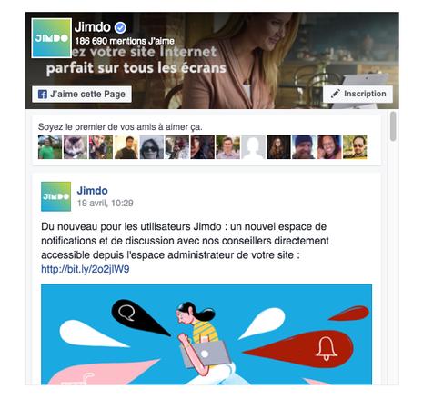 Ajouter facebook à son site Jimdo