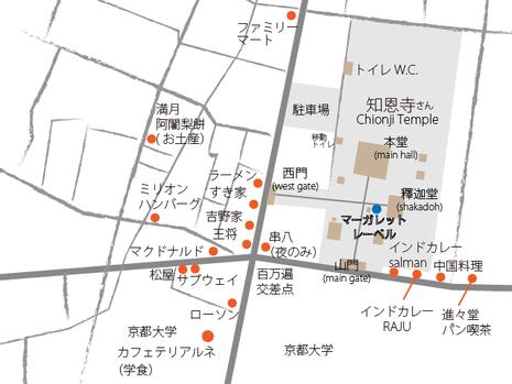 百万遍知恩寺さん周辺MAP