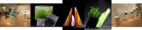 Georges und Monique Stahl CCAA Studioglas glaskunst glasgalerie glassart blownglass handblown kunsthandwerk unikat collect köln cologne angewandt kunst sammlung ausstellung design paperweight briefbeschwerer exhibition verresoufflé galerieduverre interior
