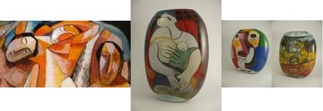 Ada Loumani Studioglas in der CCAA GLASGALERIE KÖLN, Glaskunst, Studioglas