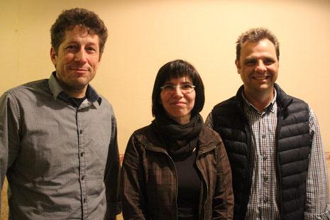 v.l. Matthias Kleemeyer (2.Vorsitzender), Elke Rauh (1.Vorsitzende), Sven Bauer (Schatzmeister)