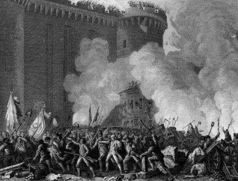 Stormen på Bastillen d 14.Juli 1789 indledte den franske revolution