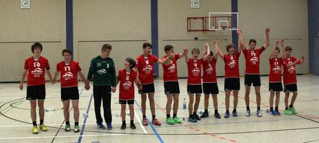 Es spielten: Eric Wetzel(TW), Jannes Wernicke(3), Justus Dumschat, Jonas Galle (2), Dustin Freimuth(5);Maurice Merten, Tobias Warlich, Hannes Richter(10); Dominik Starick (7), Arnold Schwachula, Max Wilck (1), Lucas Dalibor(6)