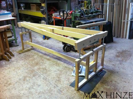 Komplettes Gestell zum Testen zusammengebaut, Max Hinze selbst gebautes Marimba selbstgebautes Marimbaphon DIY