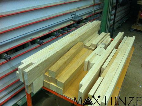 Esche- und Kirschholz für den das Gestell, Max Hinze selbst gebautes Marimba selbstgebautes Marimbaphon DIY, Urs Scheller