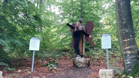 Der Engel auf dem Gedankenweg in Greußenheim