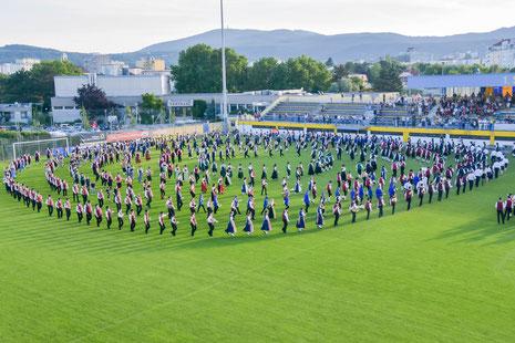 Jugendkapelle Staatz nimmt an Weltrekordversuch in Wiener Neudorf teil