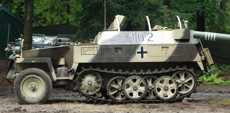 SdKfz 250, neue Art, perfekt restauriert, fertig zum Einsteigen und losfahren!
