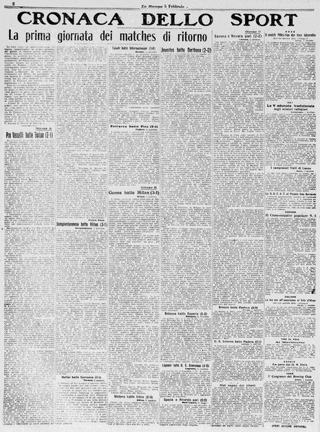 1922-23 JUVENTUS - DERTHONA 2-0
