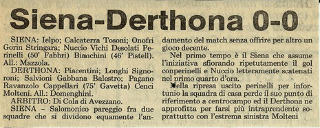 1984-85 SIENA - DERTHONA 0-0