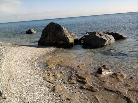Beach rock at Ruggia beach