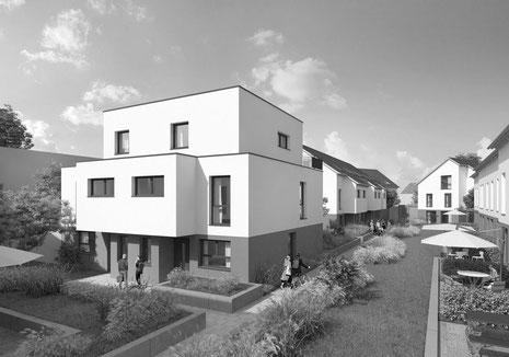 Der Immobilienmakler Matthias Pfeifer vermittelt Neubau Immobilien im Rhein-Main-Gebiet. Neubau Quartiersentwicklung in Bad Vilbel mit 20 Einfamilienhäusern als freistehendes Einfamilienhaus, Doppelhaushälften und Reihenhäusern