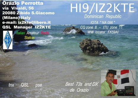 La 1^ QSL card Hi9/iz2kte