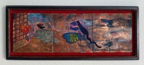 Mi habitación (私の部屋 watashi no heya), 24 x 72 cm, 2004. Colección privada.