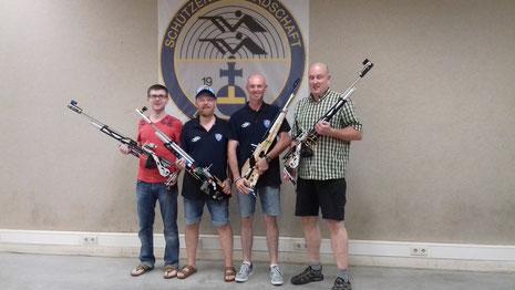 Die Teilnehmer der Schützengilde Lauf