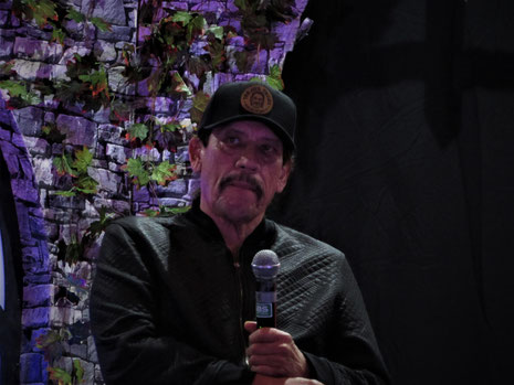 Danny Trejo, during his Saturday Panel at For the Love of Horror, Manchester 2018