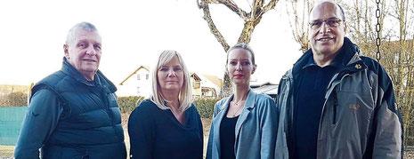 Der neue Vorstand der Bogensportgemeinschaft (v.l.): Schriftführer Klaus Wilhelm, stellvertretende Vorsitzende Sybille Lichey, Kassiererin Susanne Kowatsch und Vorsitzender Rudi Christoph.