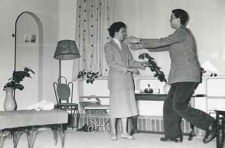 Szene mit N. Hackethal und meiner Mutter, welche die Rolle der Myra Arundel spielte.