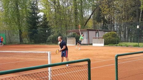 Markus Tost und Rico Seidel im Doppel