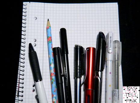 Stifte Block Schreiben Handschrift