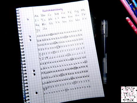 Buchstaben üben Handschrift verbessern