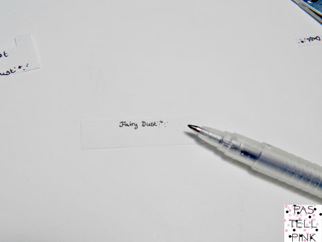 Schritt 4 Stift  Feenstaub to Go Fairy Dust Miniatur Süß